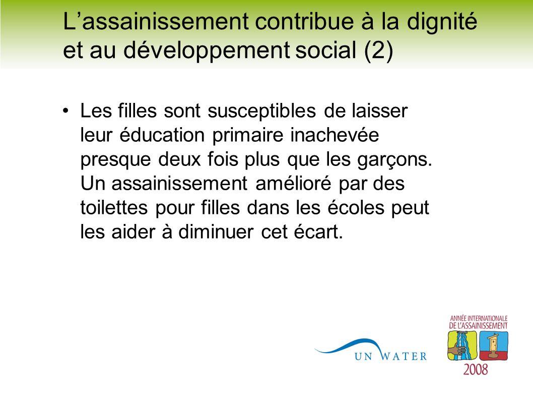 L'assainissement contribue à la dignité et au développement social (2)