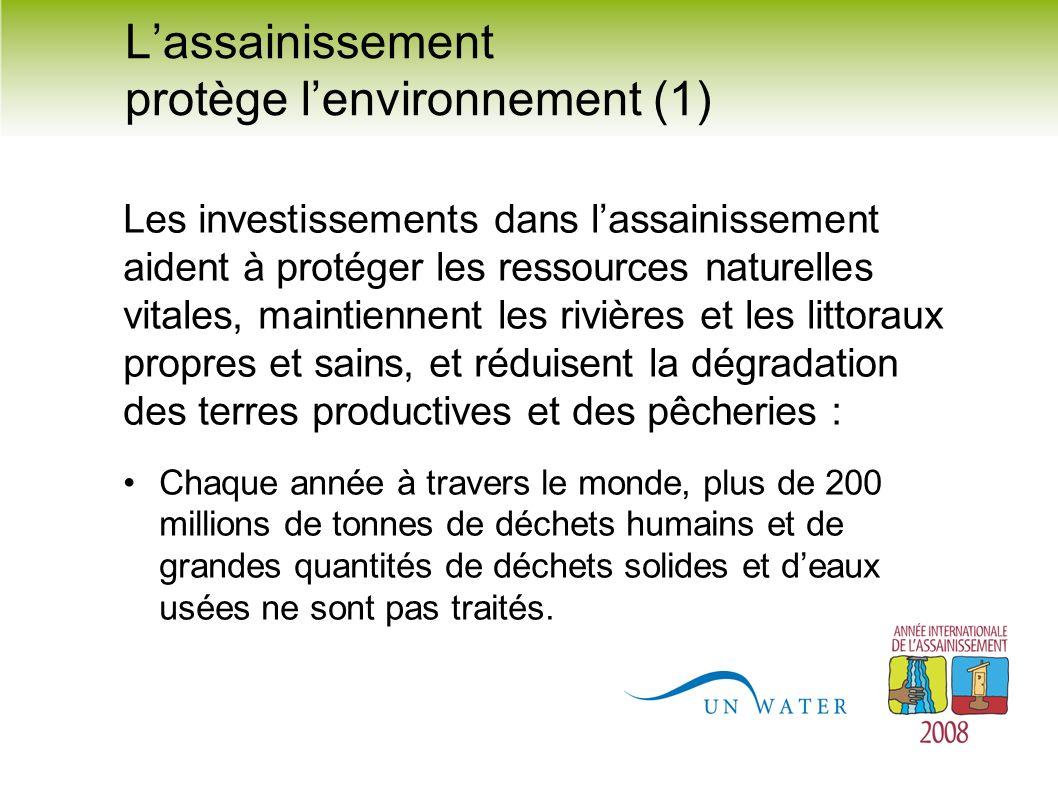 L'assainissement protège l'environnement (1)
