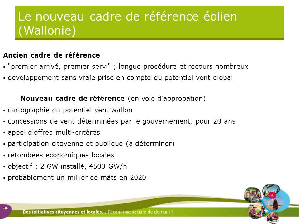 Le nouveau cadre de référence éolien (Wallonie)