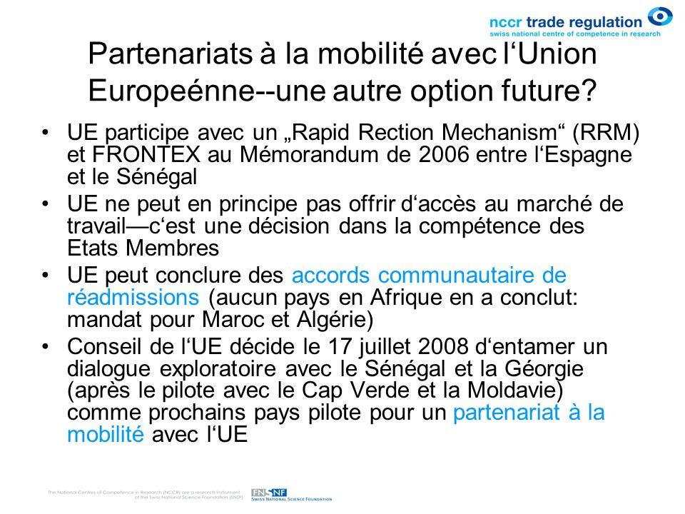 Partenariats à la mobilité avec l'Union Europeénne--une autre option future