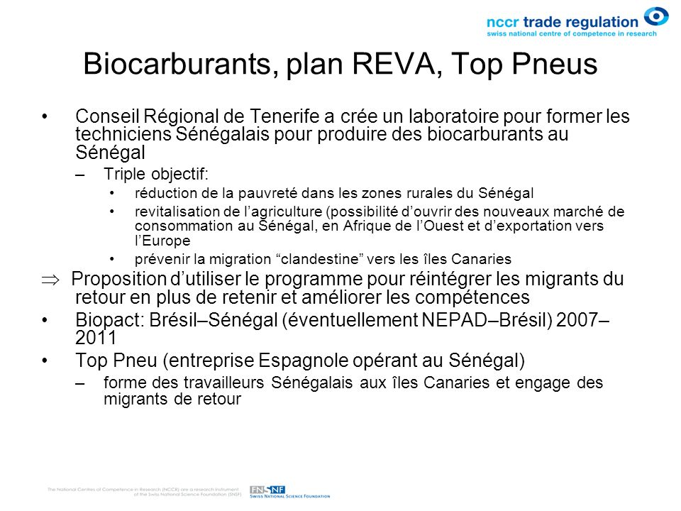 Biocarburants, plan REVA, Top Pneus