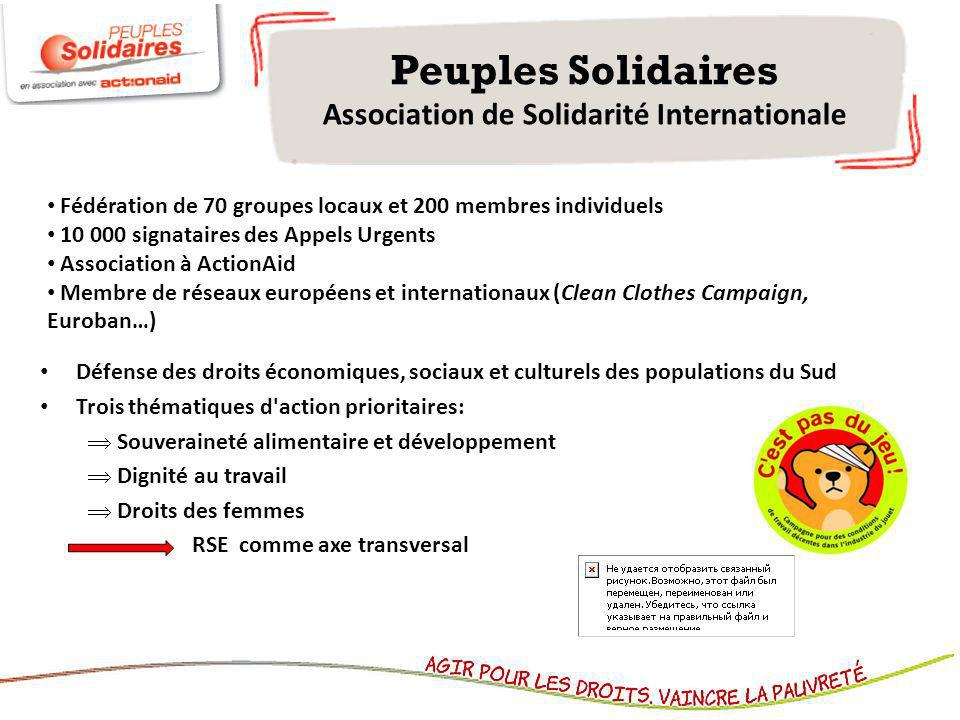 Peuples Solidaires Association de Solidarité Internationale
