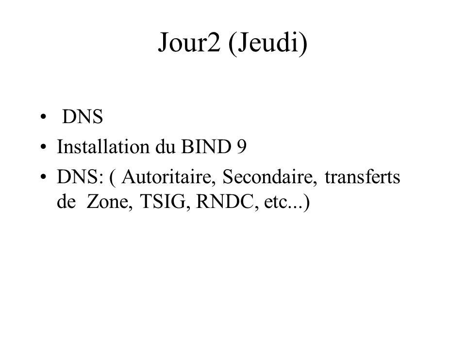 Jour2 (Jeudi) DNS Installation du BIND 9