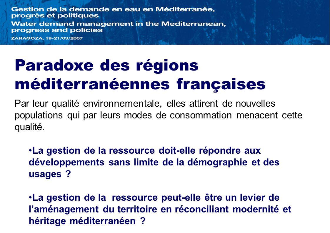 Paradoxe des régions méditerranéennes françaises