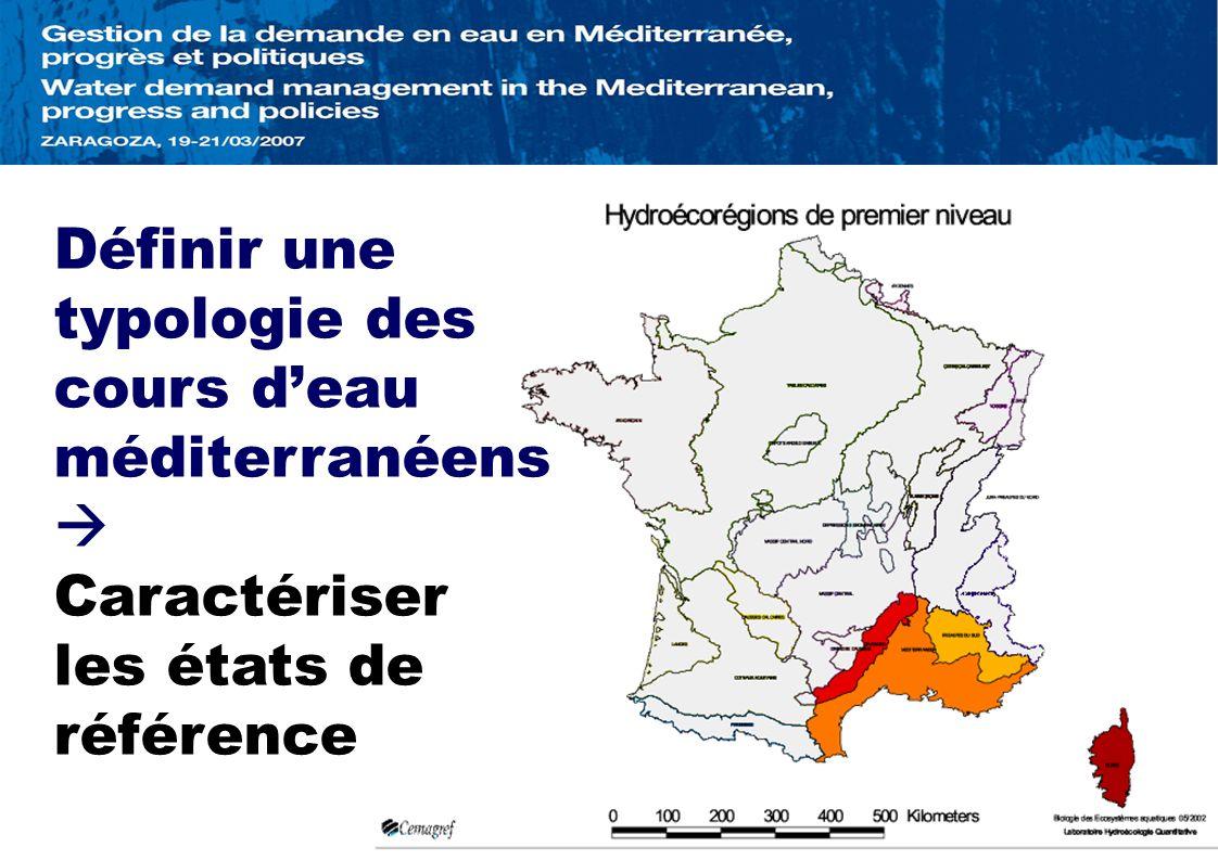 Définir une typologie des cours d'eau méditerranéens
