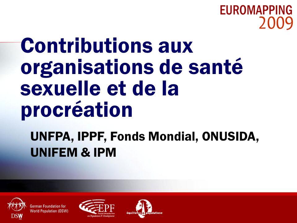 Contributions aux organisations de santé sexuelle et de la procréation