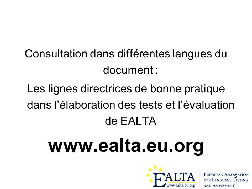 Consultation dans différentes langues du document :
