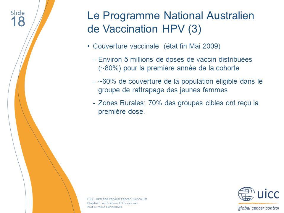 18 Le Programme National Australien de Vaccination HPV (3) Slide
