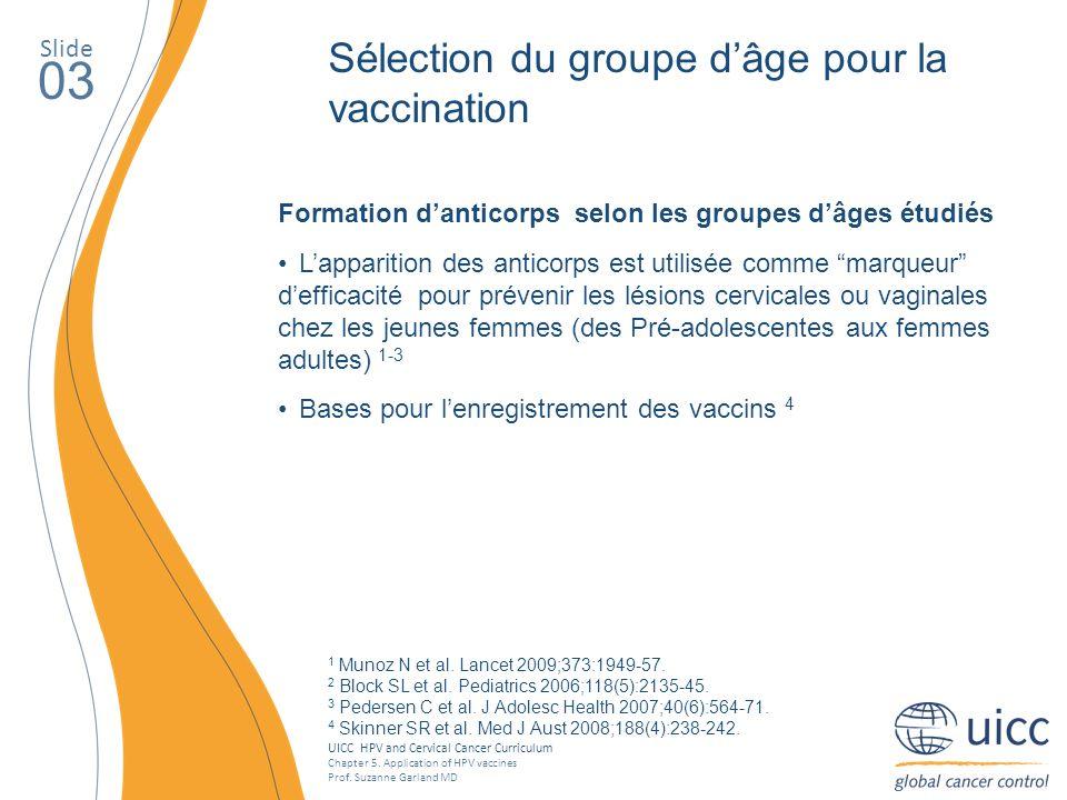 03 Sélection du groupe d'âge pour la vaccination Slide