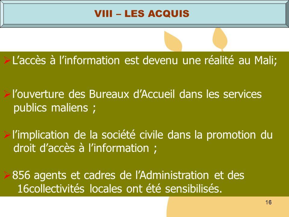 L'accès à l'information est devenu une réalité au Mali;