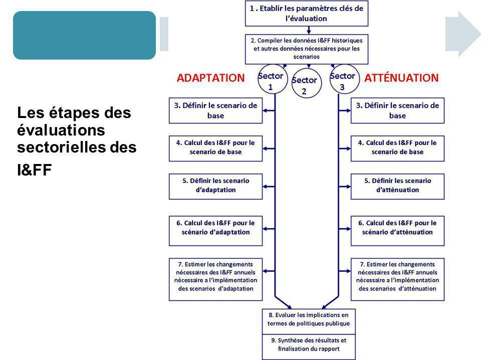 Les étapes des évaluations sectorielles des