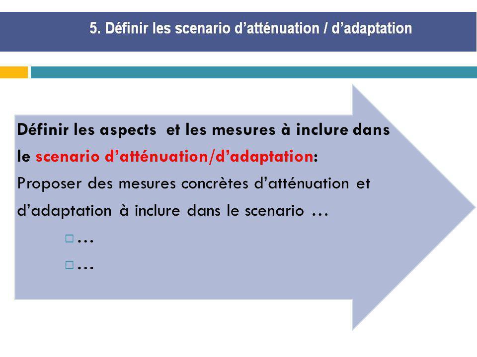 Définir les aspects et les mesures à inclure dans