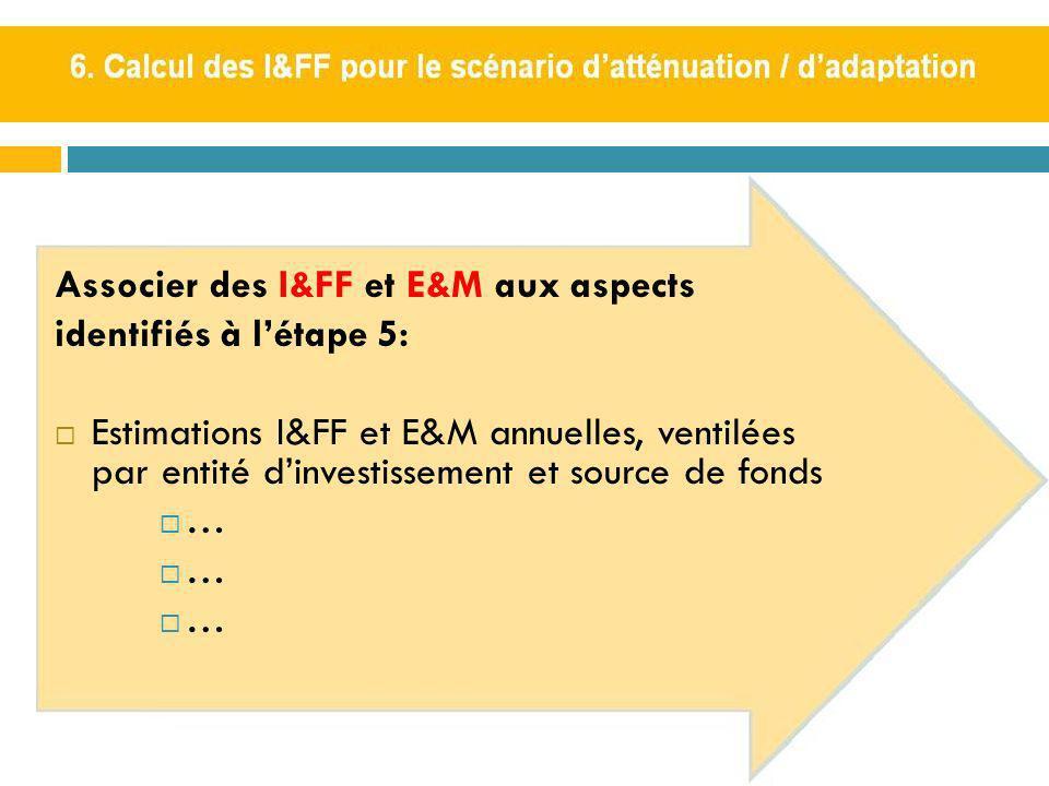 Associer des I&FF et E&M aux aspects identifiés à l'étape 5: