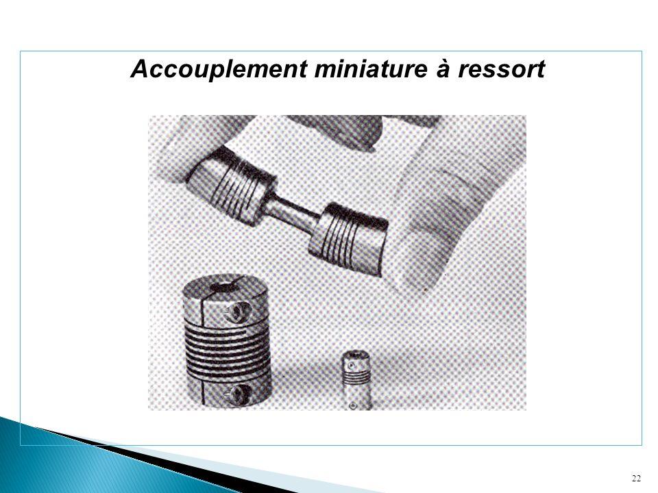 Accouplement miniature à ressort