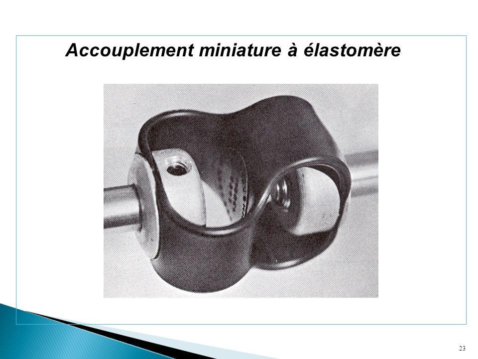 Accouplement miniature à élastomère