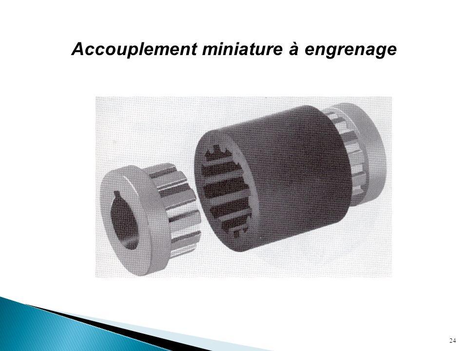 Accouplement miniature à engrenage