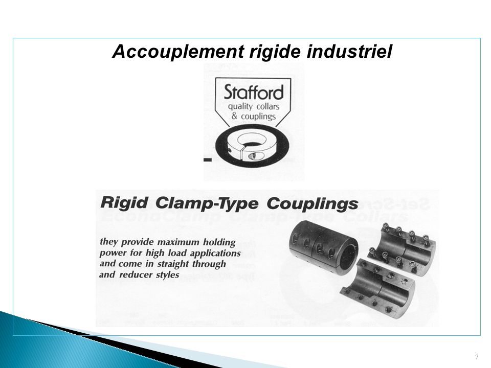 Accouplement rigide industriel
