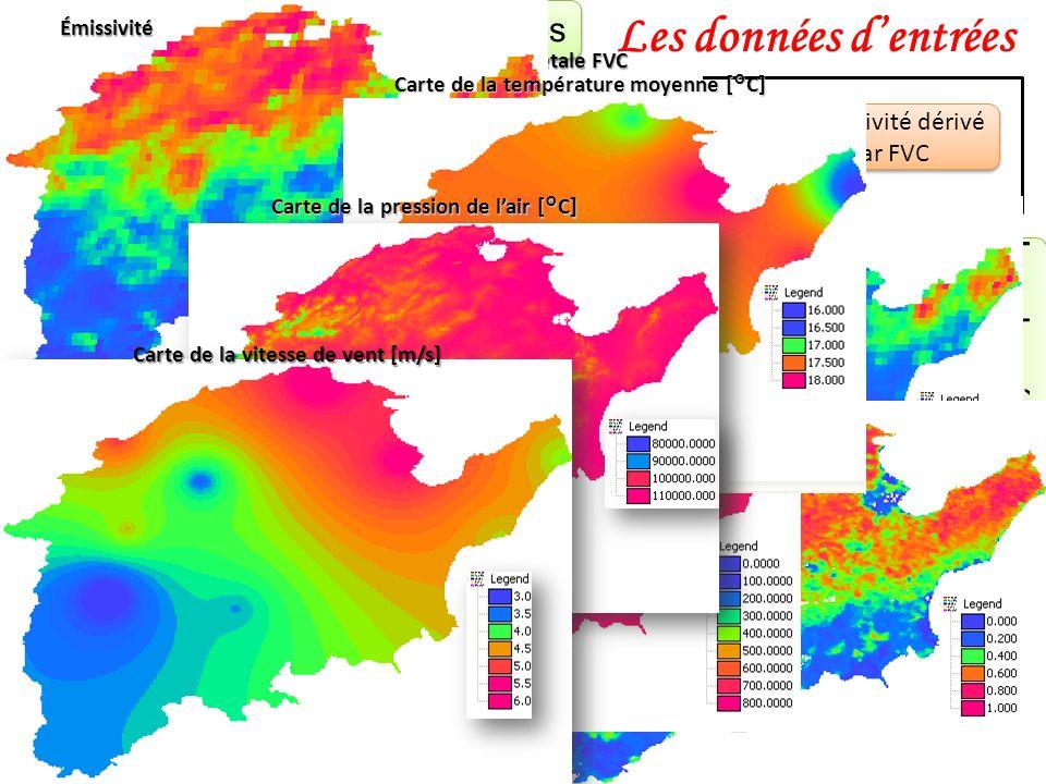Les données d'entrées Les données satellitaires