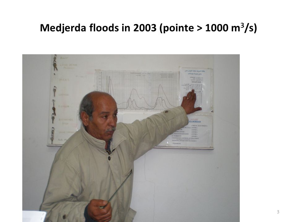 Medjerda floods in 2003 (pointe > 1000 m3/s)
