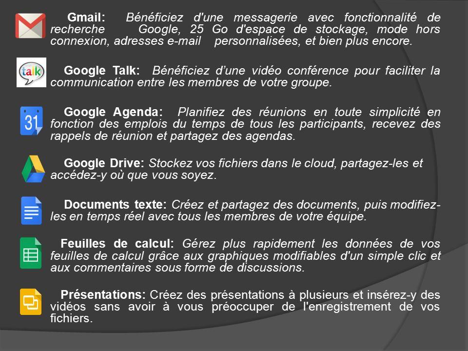 google stockage gmail
