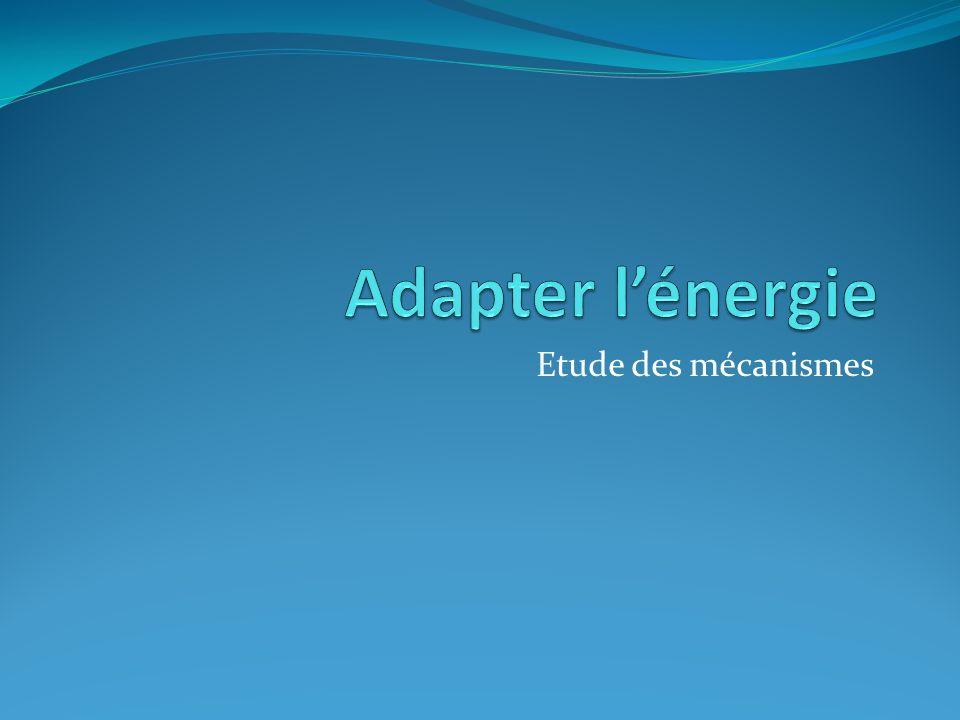 Adapter l'énergie Etude des mécanismes