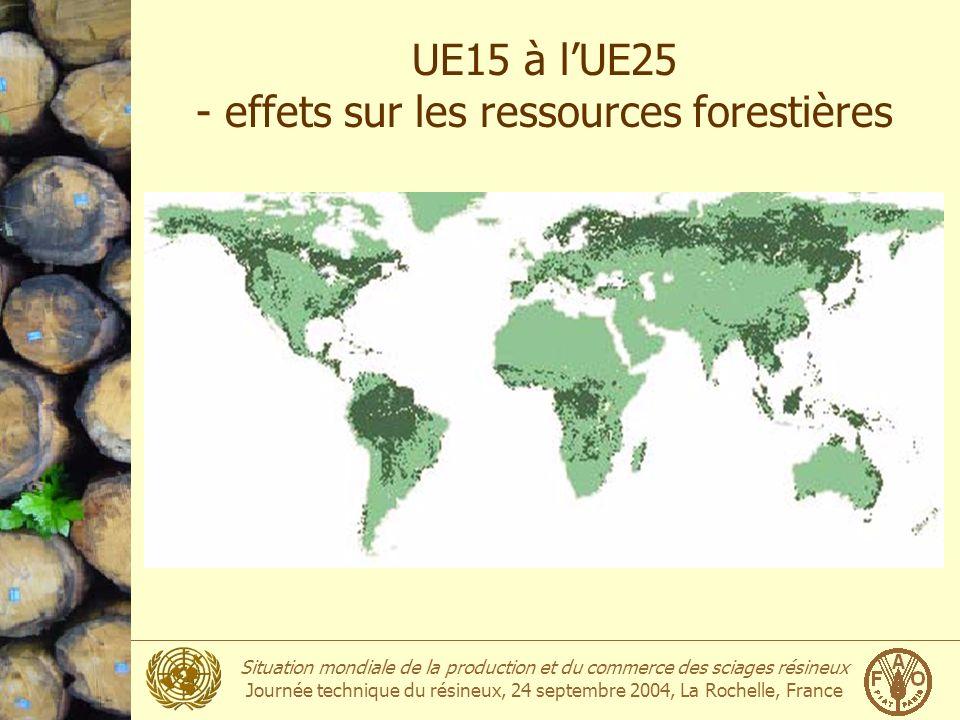 UE15 à l'UE25 - effets sur les ressources forestières