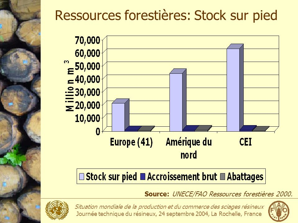 Ressources forestières: Stock sur pied