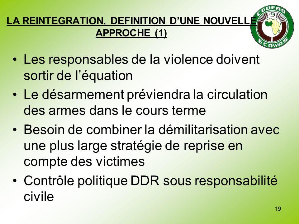 LA REINTEGRATION, DEFINITION D'UNE NOUVELLE APPROCHE (1)