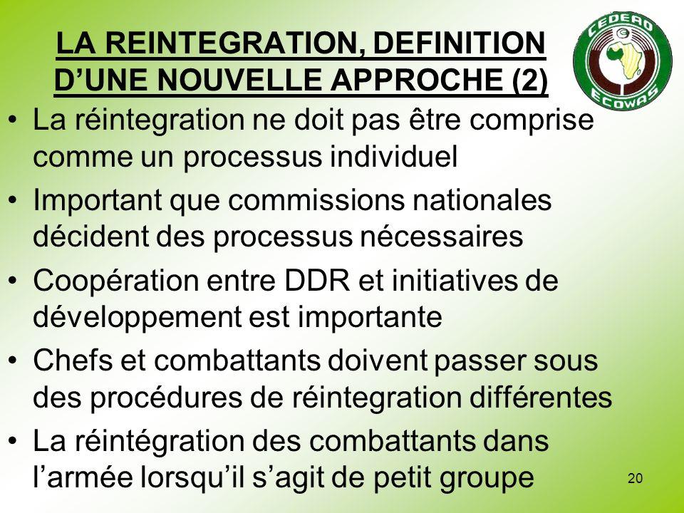 LA REINTEGRATION, DEFINITION D'UNE NOUVELLE APPROCHE (2)