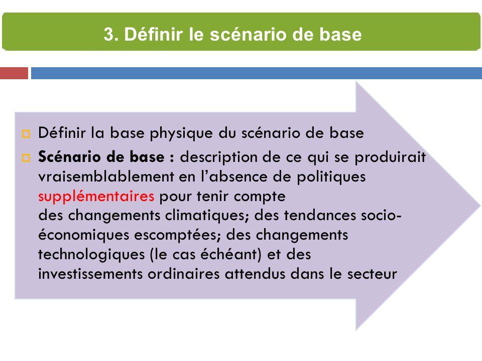 3. Définir le scénario de base