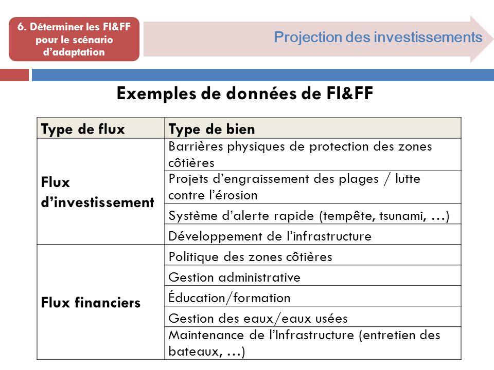 6. Déterminer les FI&FF pour le scénario d'adaptation