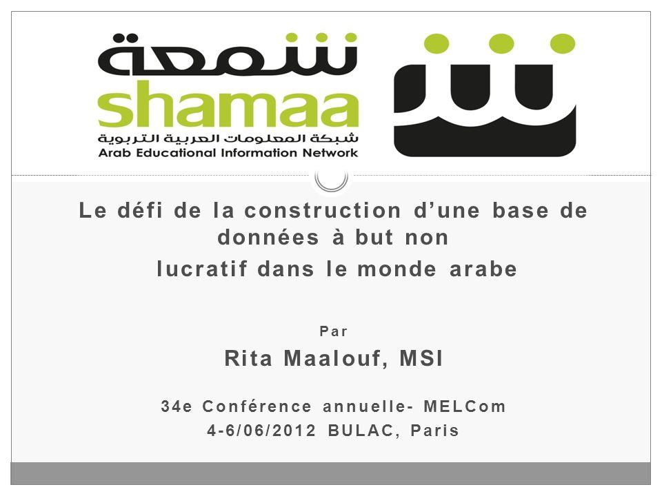 Shamaa Le défi de la construction d'une base de données à but non