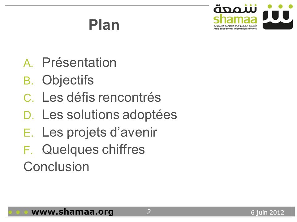 Plan Présentation Objectifs Les défis rencontrés