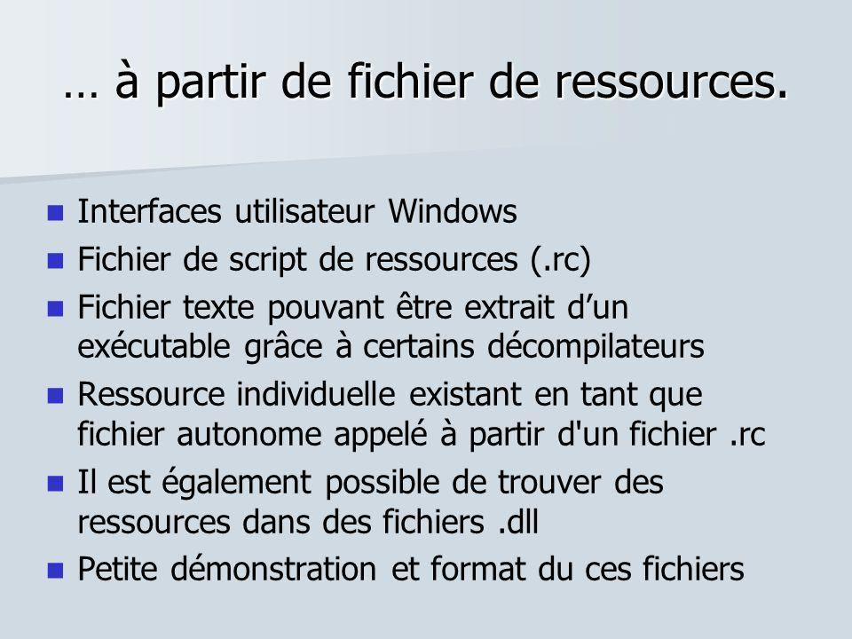 … à partir de fichier de ressources.