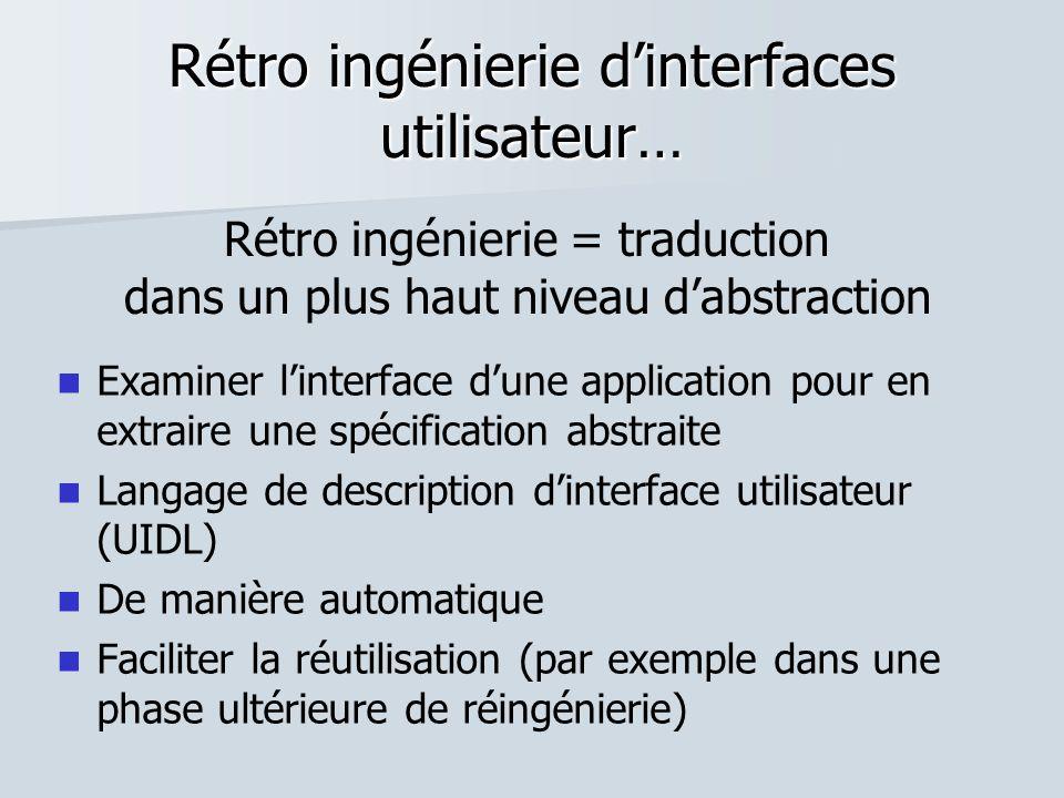 Rétro ingénierie d'interfaces utilisateur…