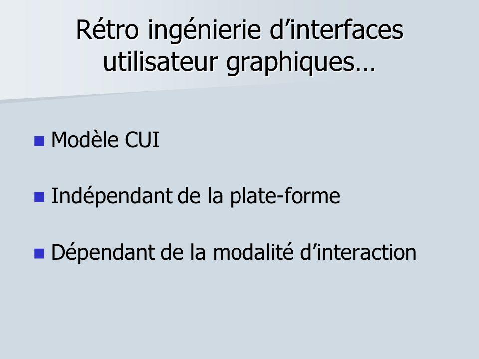 Rétro ingénierie d'interfaces utilisateur graphiques…