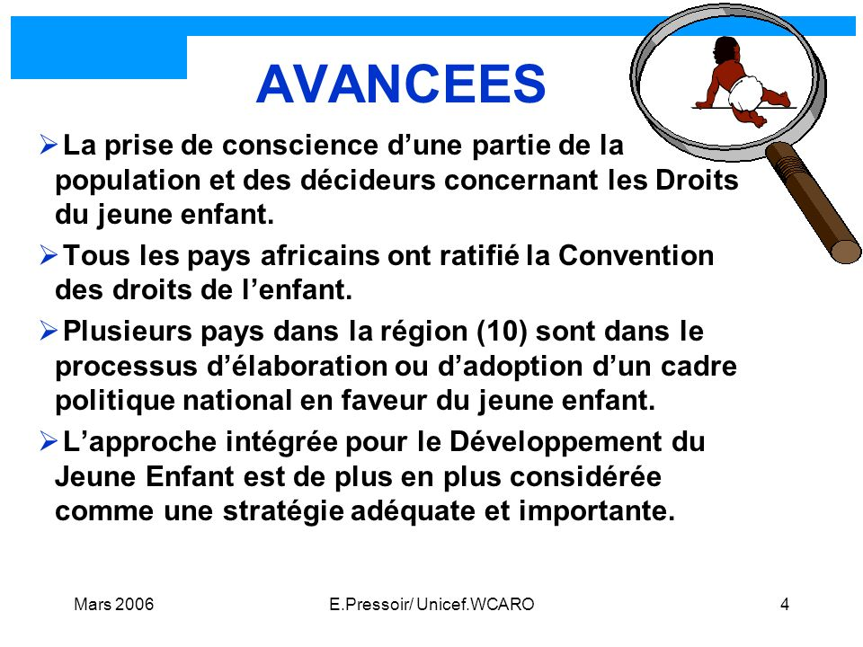 E.Pressoir/ Unicef.WCARO