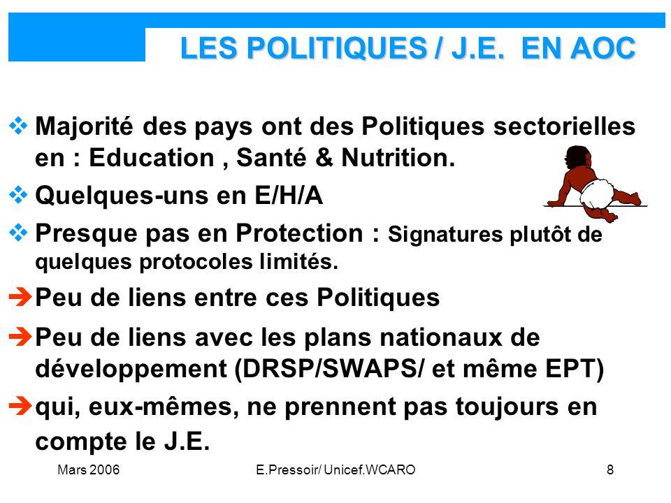 LES POLITIQUES / J.E. EN AOC