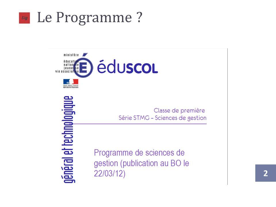 Le Programme .