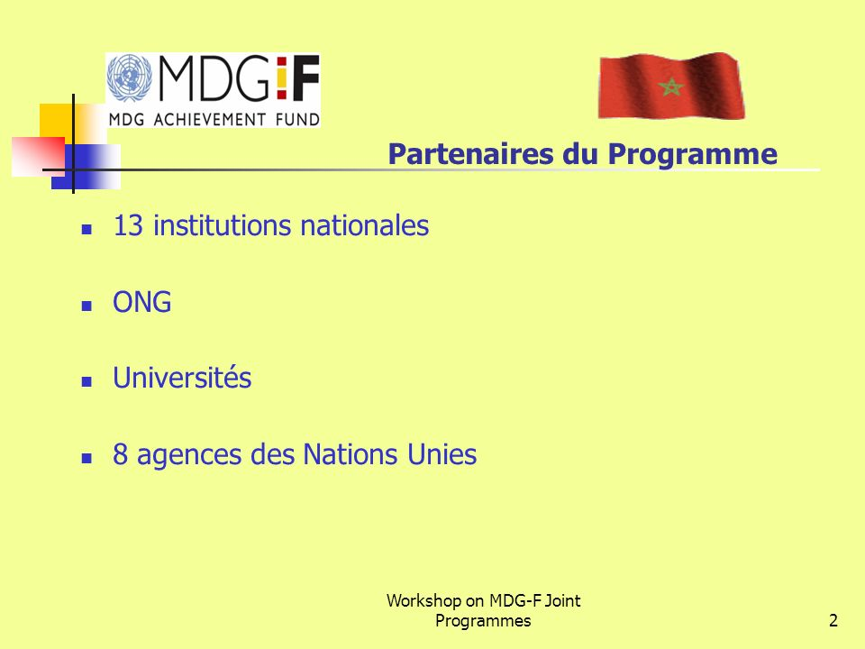 Partenaires du Programme