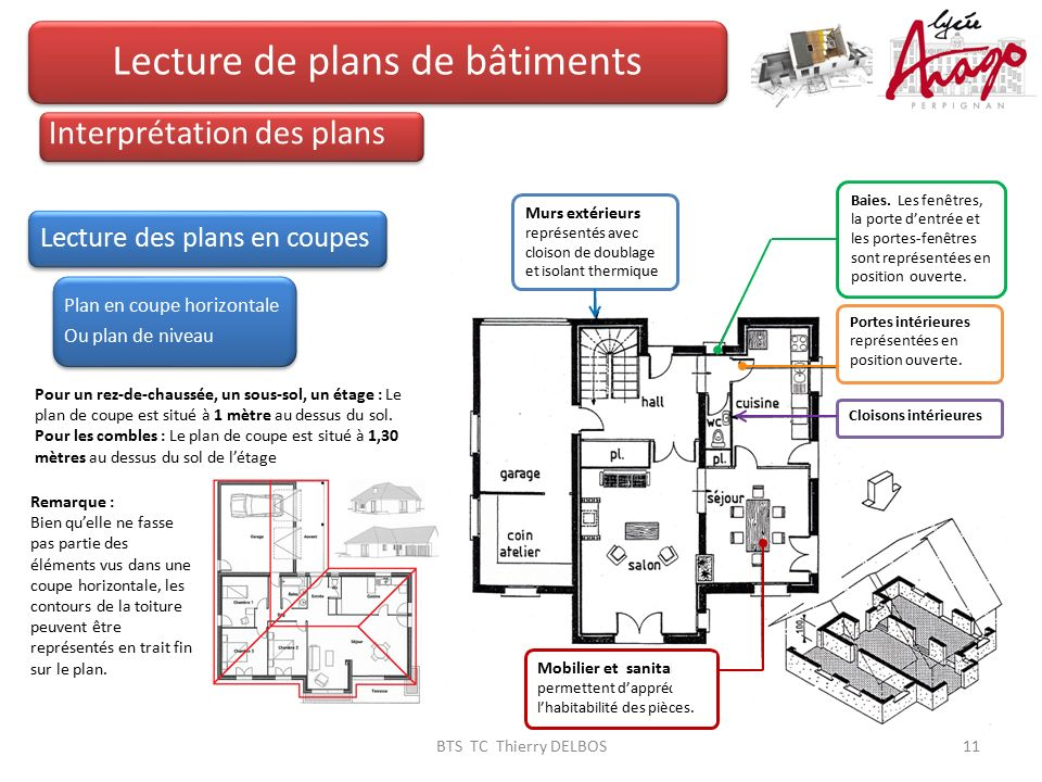 lecture de plans de b timents ppt video online t l charger. Black Bedroom Furniture Sets. Home Design Ideas