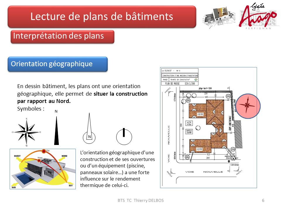 Lecture de plans de b timents ppt video online t l charger for Orientation batiment