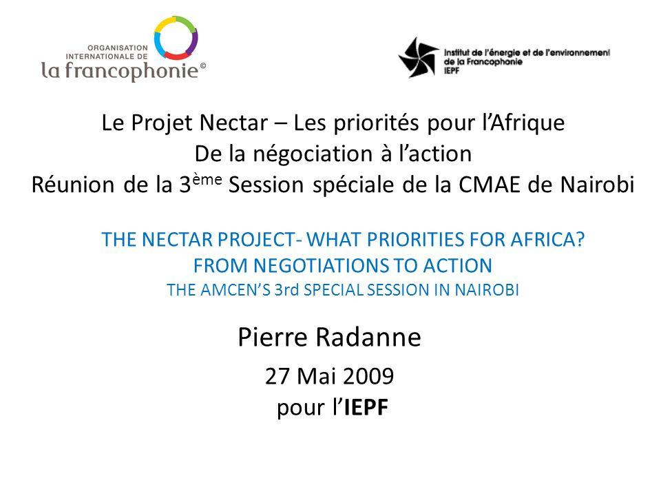 Pierre Radanne 27 Mai 2009 pour l'IEPF