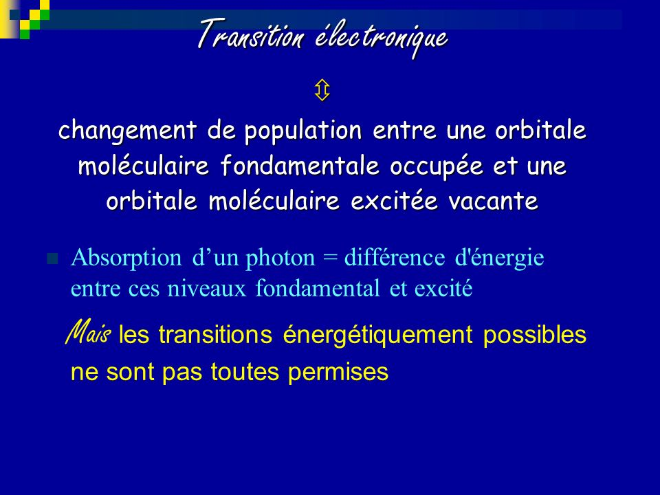 Transition électronique