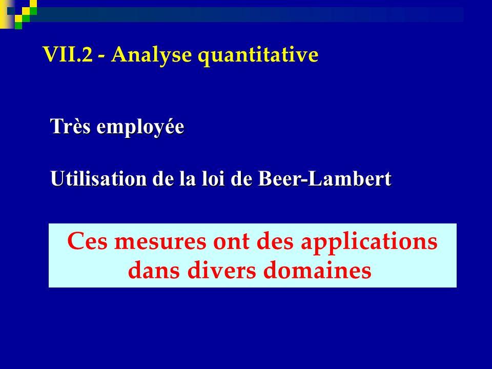 VII.2 - Analyse quantitative