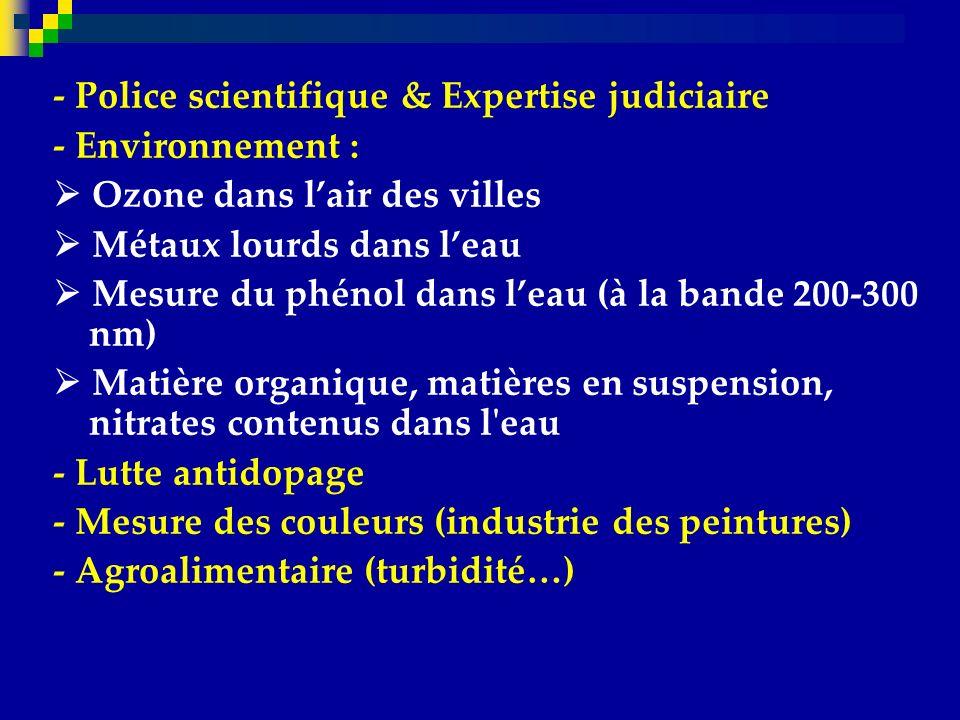 - Police scientifique & Expertise judiciaire