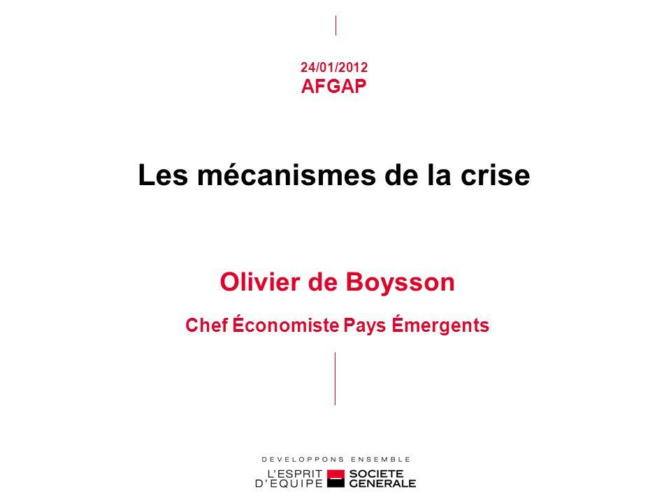 Les mécanismes de la crise