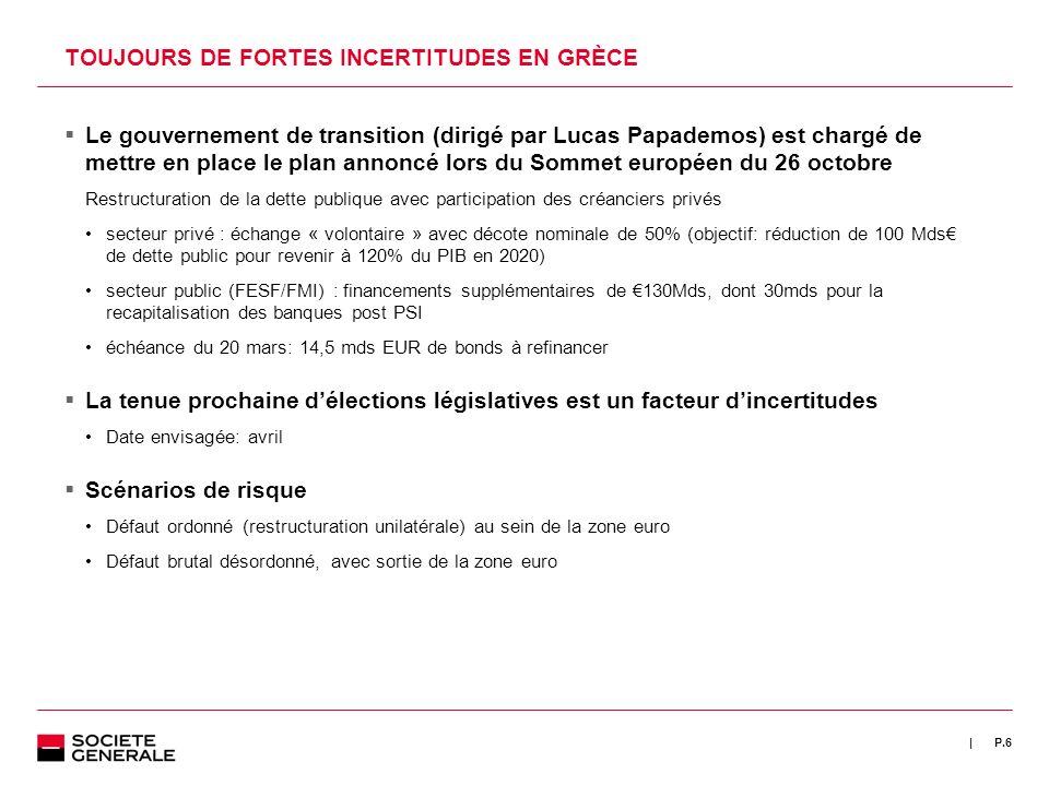 TOUJOURS DE FORTES INCERTITUDES EN GRÈCE