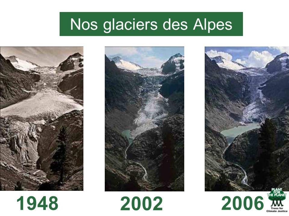 Nos glaciers des Alpes