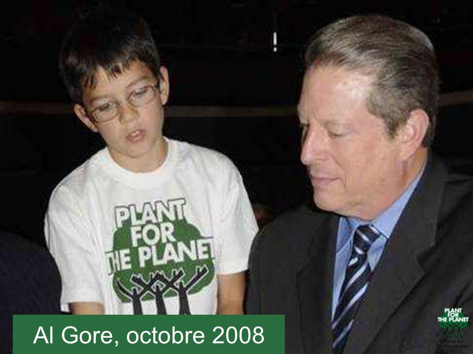 En 2008, Felix a rencontré Al Gore à Munich (ici à sa gauche).